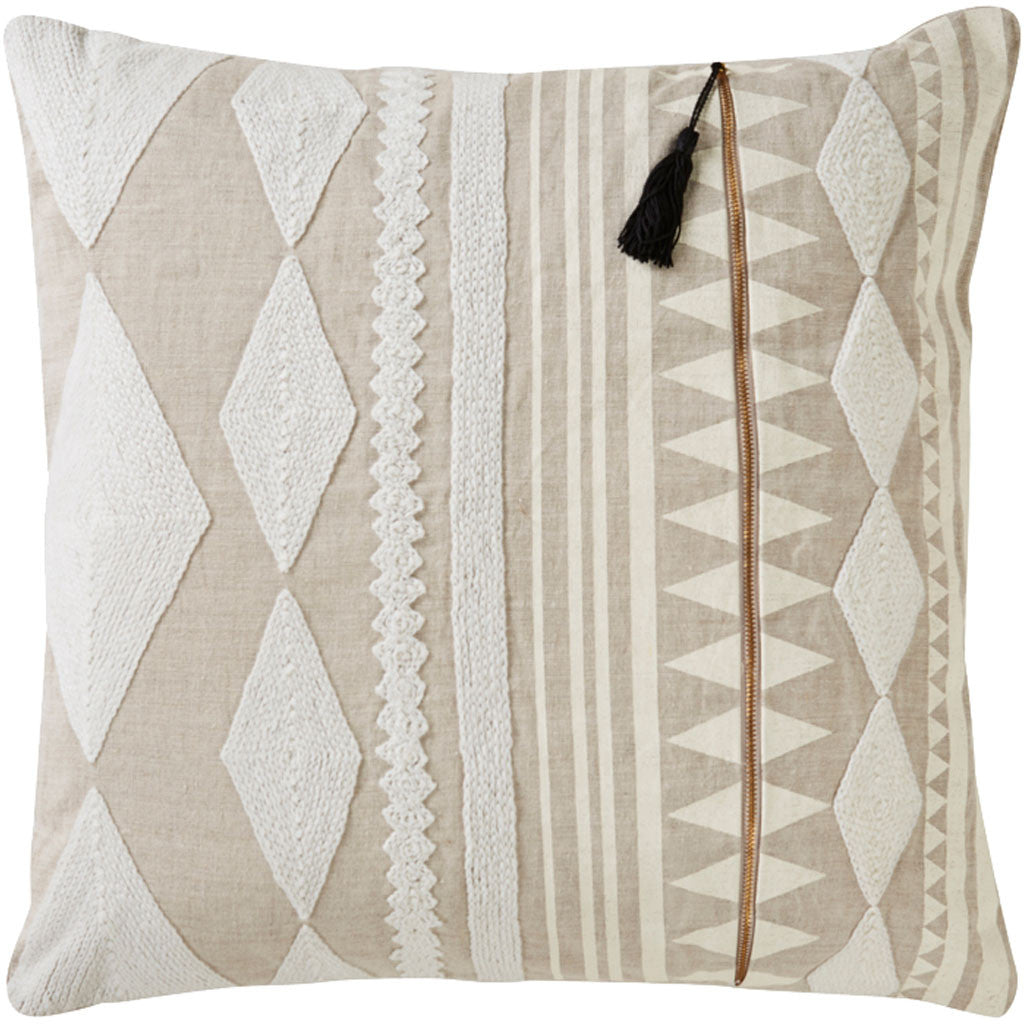 Cosmic Nki23 Ivory/Tan Pillow