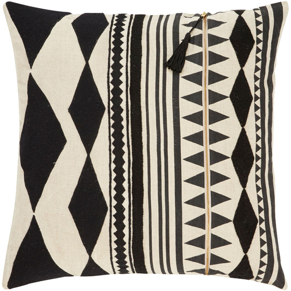 Cosmic Nki23 Black/Ivory Pillow
