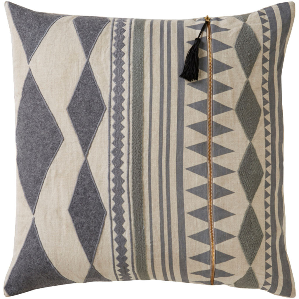 Cosmic Nki23 Gray/Ivory Pillow
