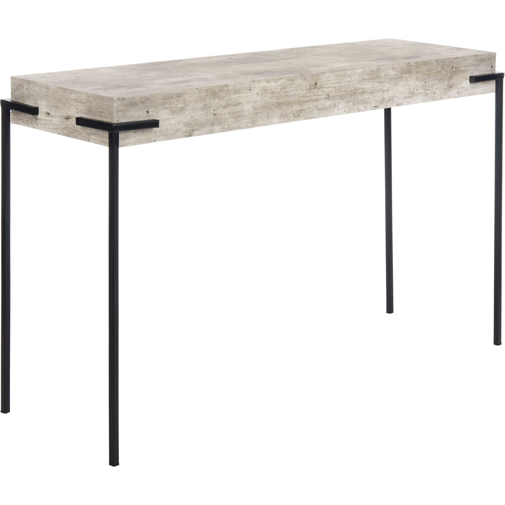 Elliot Rectangle Console Table Light Gray/Black