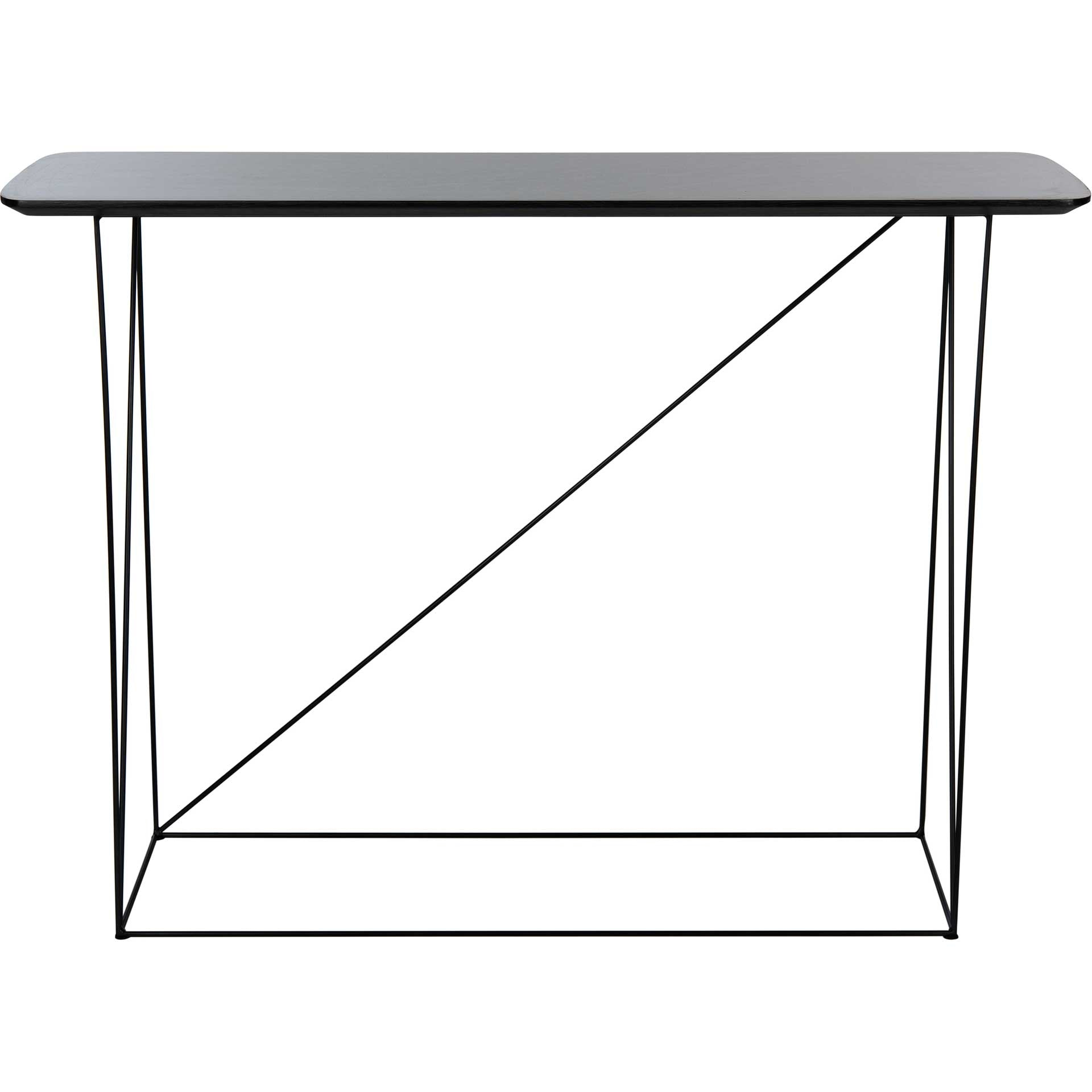 Ryder Console Table Gray/Black