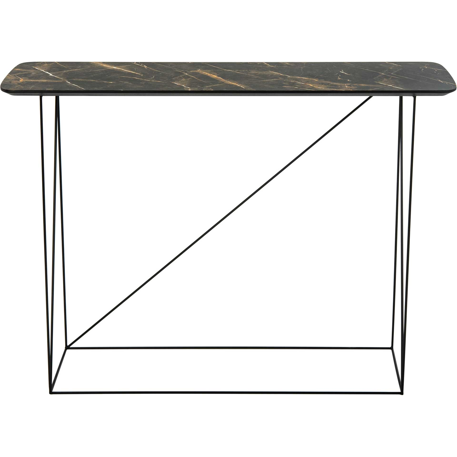 Ryder Console Table Dark Gray/Black