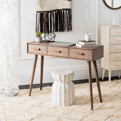 Alara 3 Drawer Console Table Desert Brown