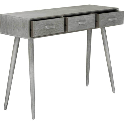 Alara 3 Drawer Console Table Slate Gray
