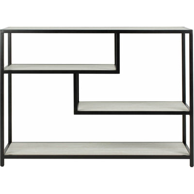 Reed Geometric Console Table Beige/Black