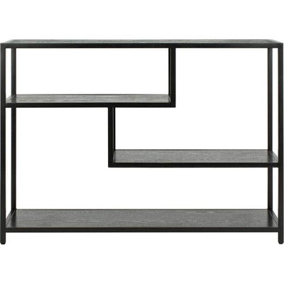 Reed Geometric Console Table Black/Black