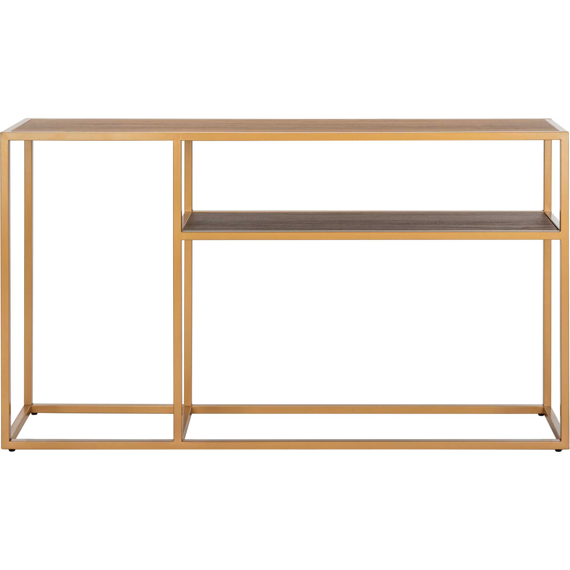 Octavia Console Table Walnut/Gold