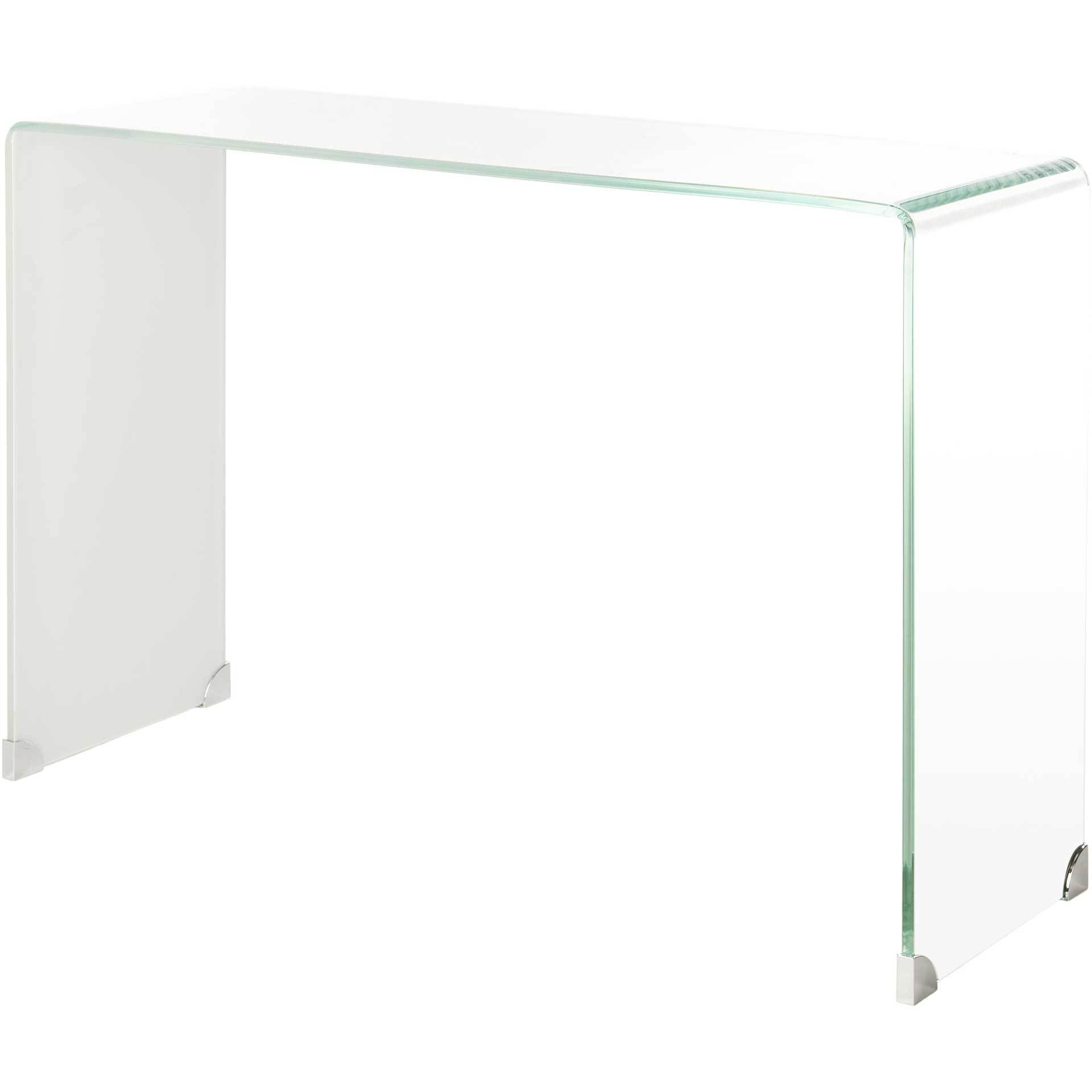 Cristopher Ombre Glass Console Table Clear/White