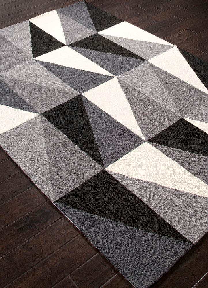 Colors Right Angle Gray Area Rug