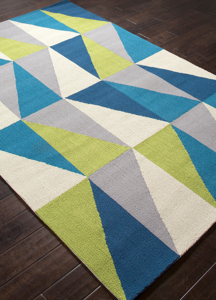 Colors Right Angle Blue Area Rug