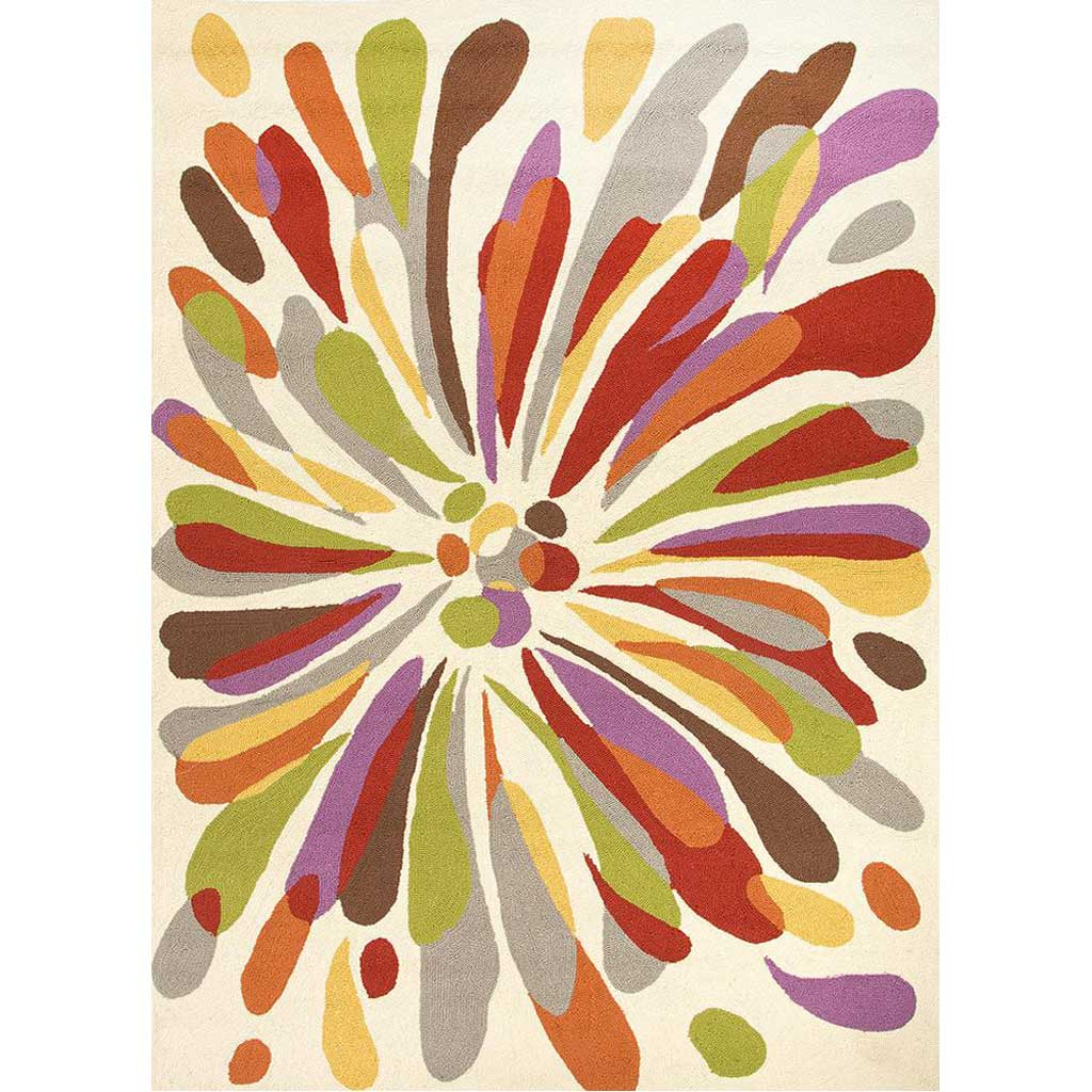Colours Flowerburst Beige Area Rug