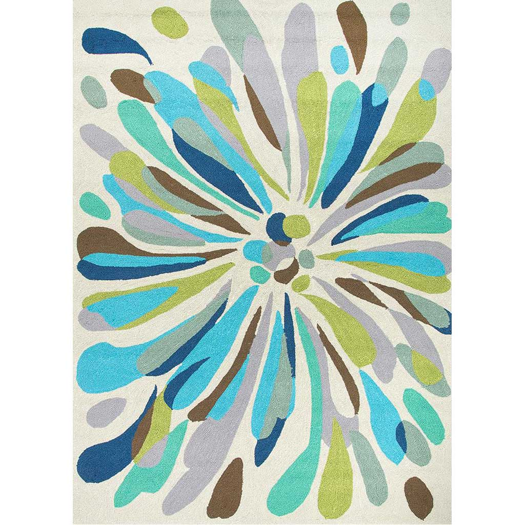 Colours Flowerburst Light Gray Area Rug