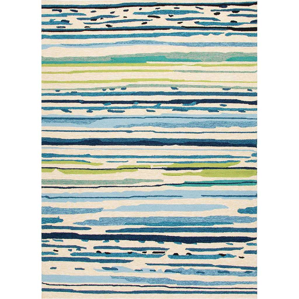 Colours Sketchy Lines Blue/White Area Rug