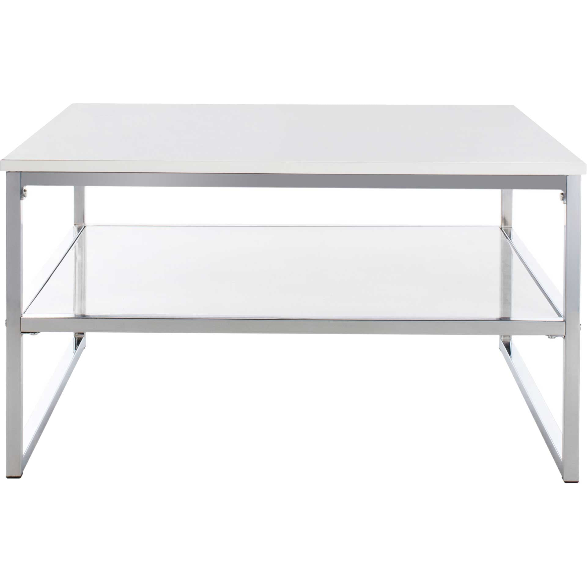 Alina 2 Tier Square Coffee Table White