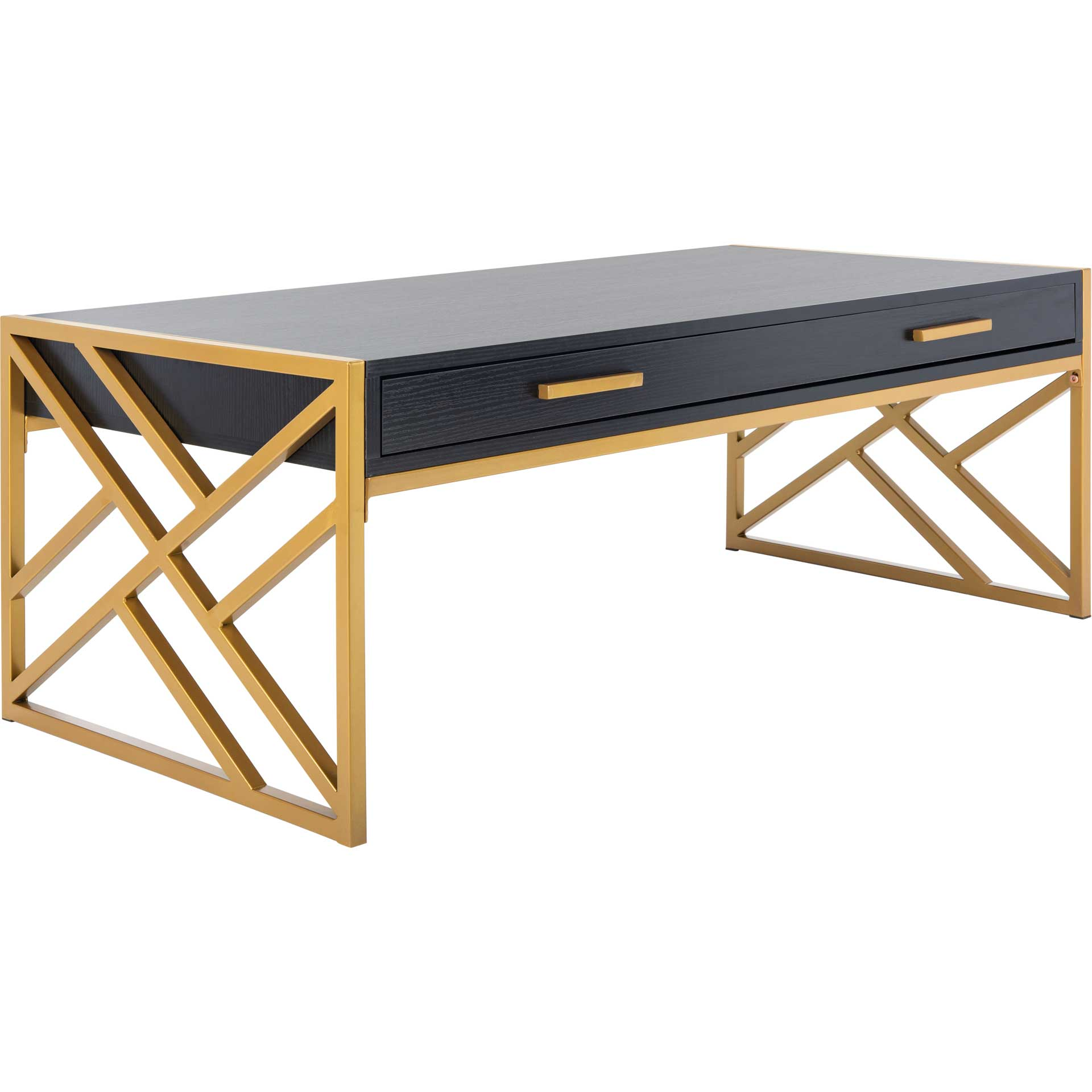 Elias 2 Drawer Coffee Table Black/Gold
