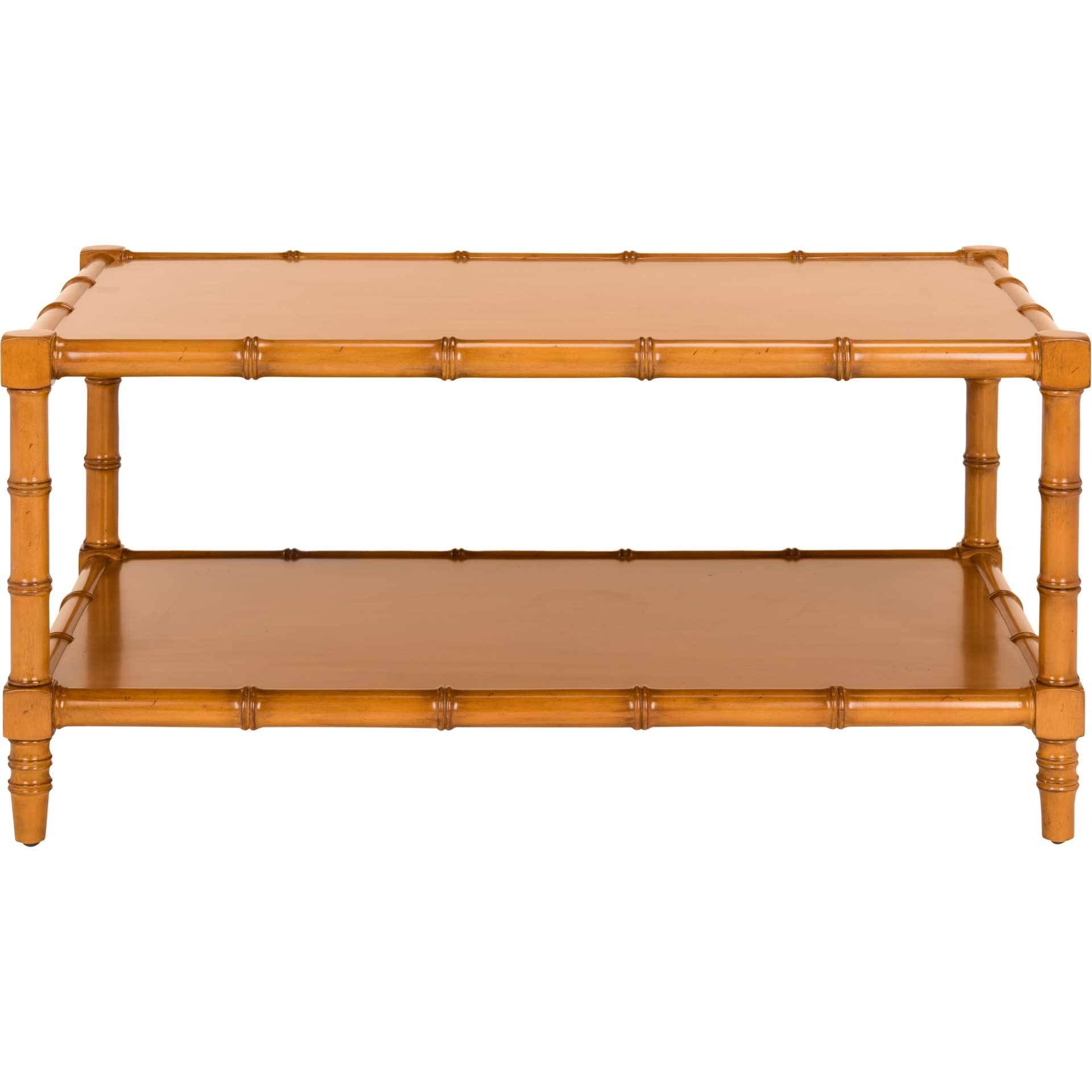 Nolan Coastal Bamboo Coffee Table Brown