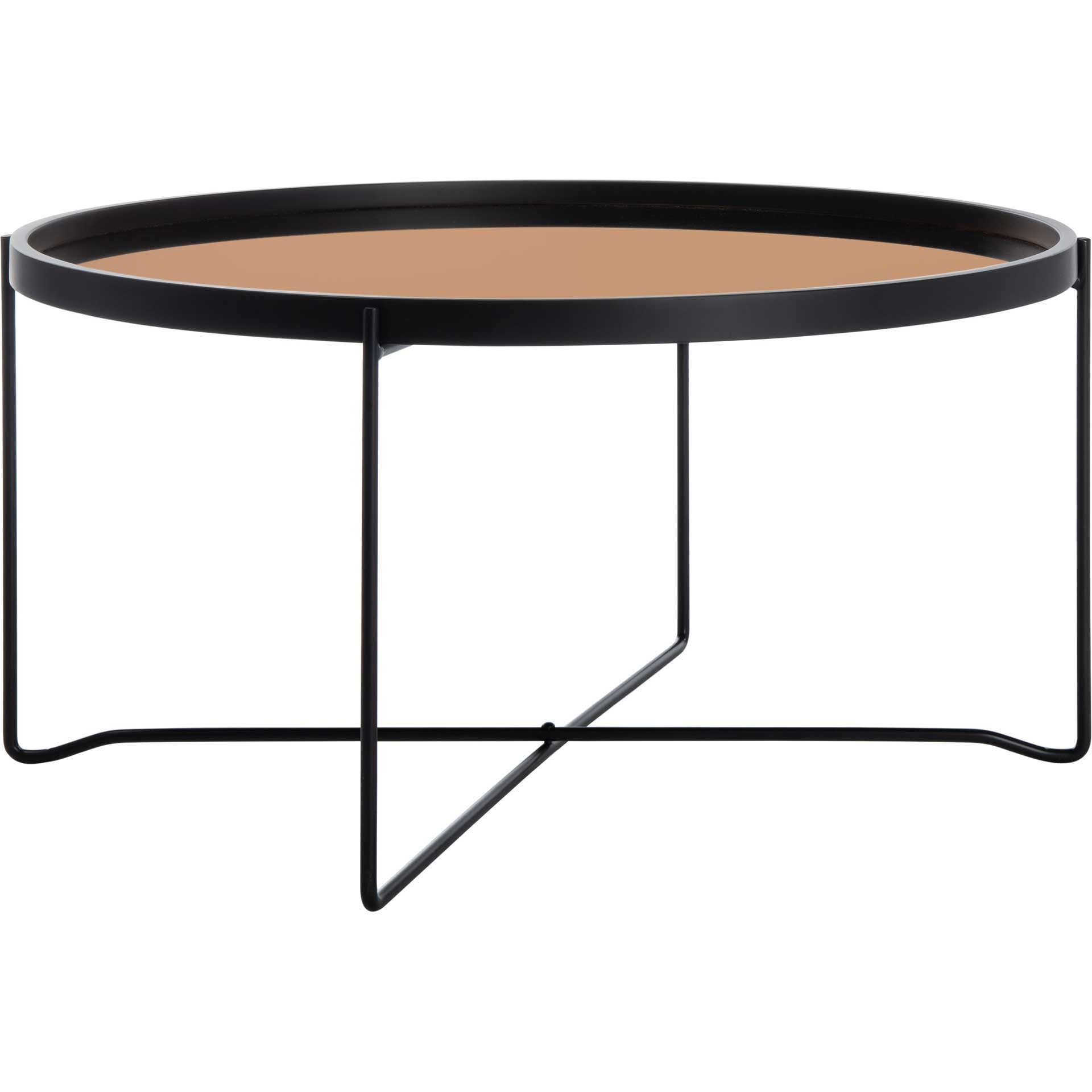 Rubicon Round Tray Top Coffee Table Rose Gold/Black