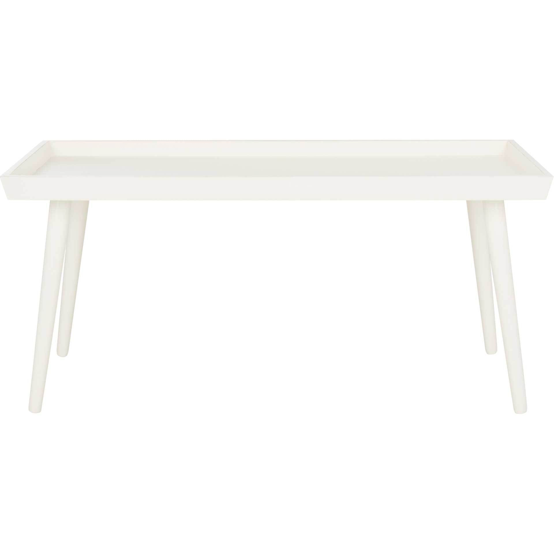 Norah Tray Top Coffee Table Distressed White
