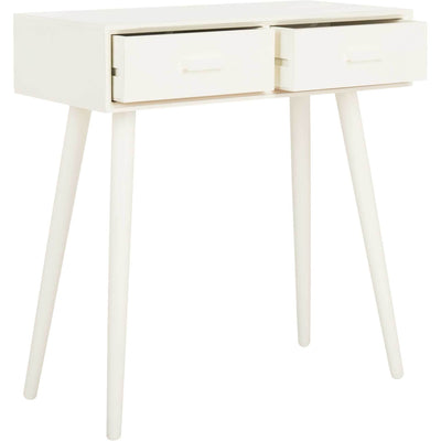 Deandre 2 Drawer Console Distressed White