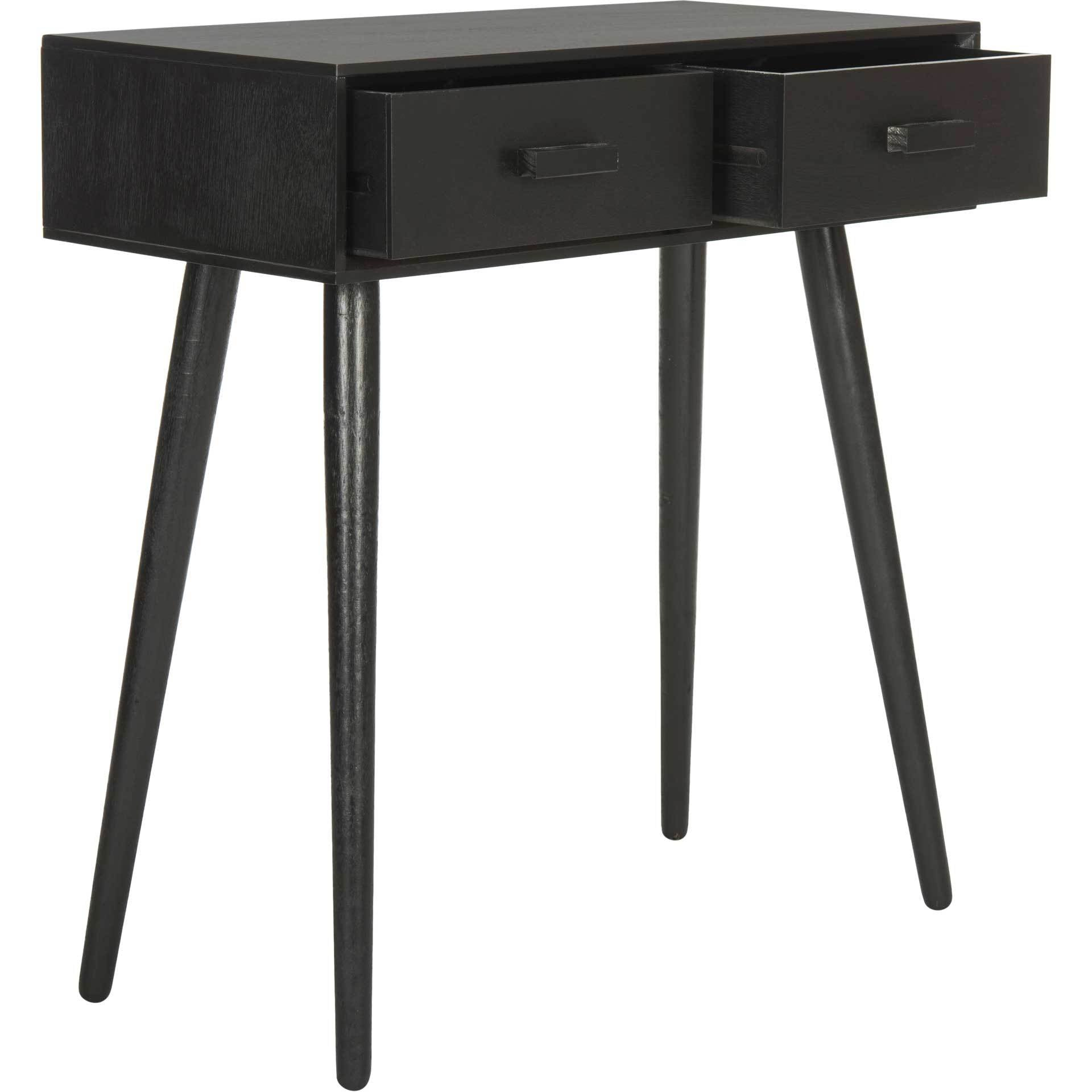 Deandre 2 Drawer Console Black
