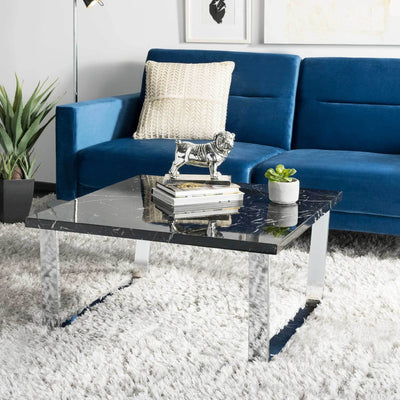 Cassidy Square Coffee Table Black Marble/Chrome
