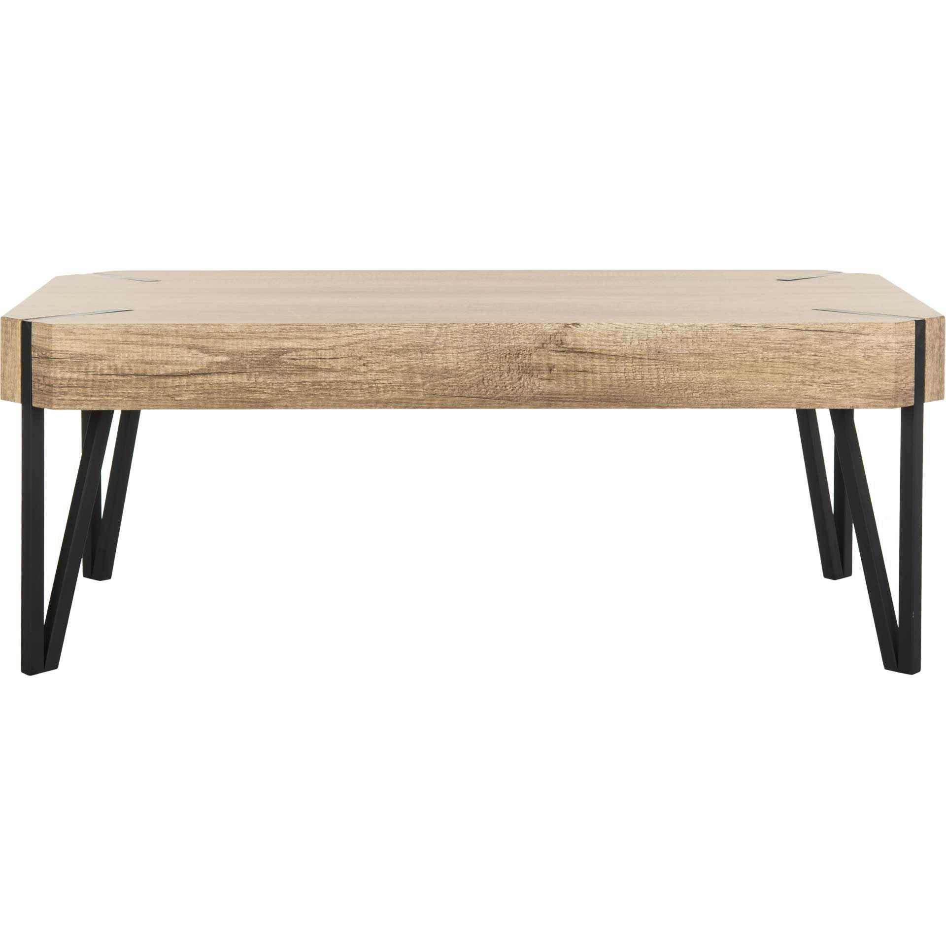 Livia Wood Top Coffee Table