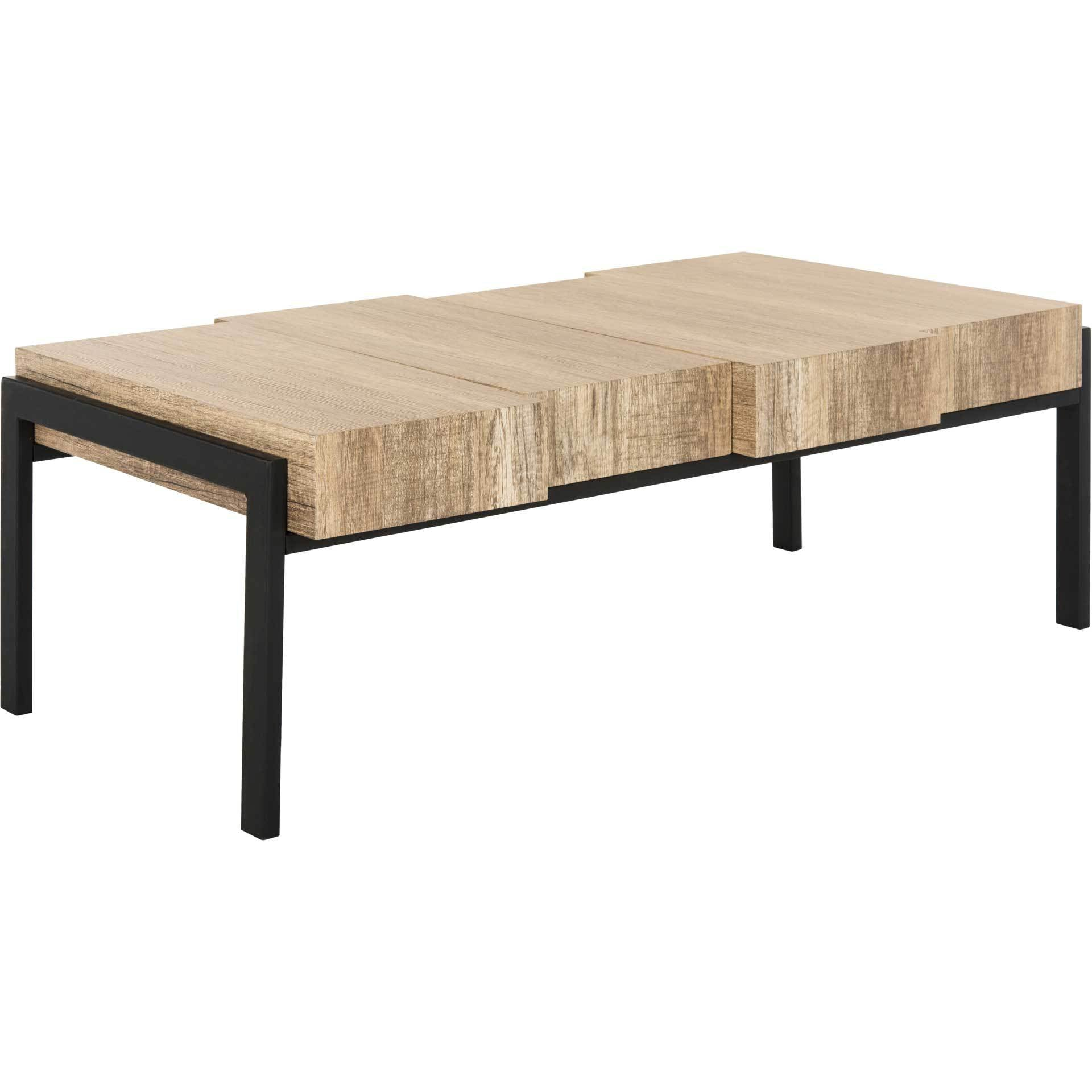 Alexa Contemporary Rustic Coffee Table