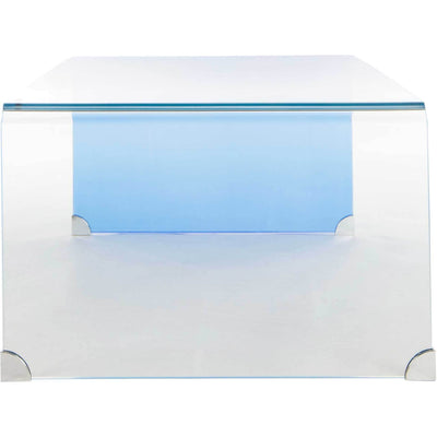 Cristopher Ombre Glass Coffee Table Clear/Blue