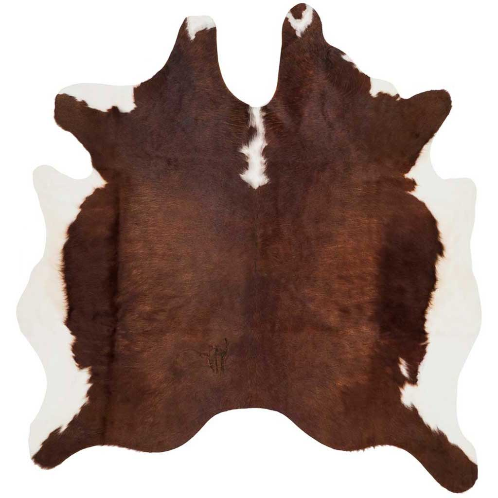 Cowhide Brown/White Area Rug