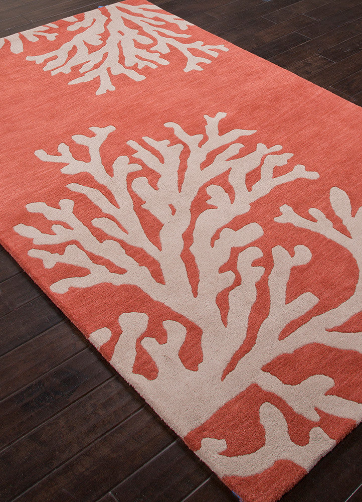 Coastal Seaside Bough Apricot Brandy/Doe Skin Area Rug