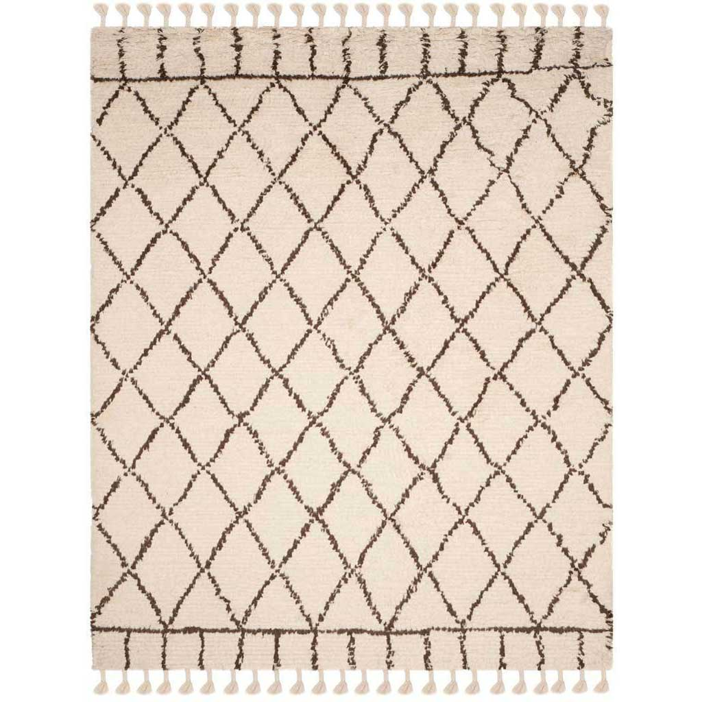 Casablanca Diamond Ivory/Brown Area Rug