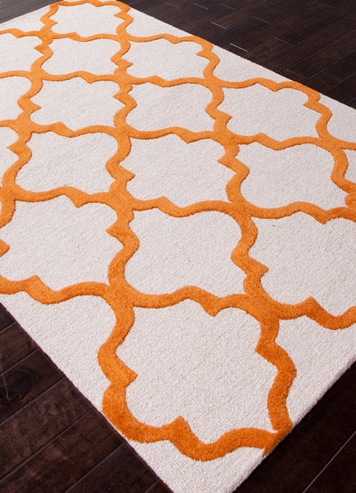 City Miami White/Sun Orange Area Rug