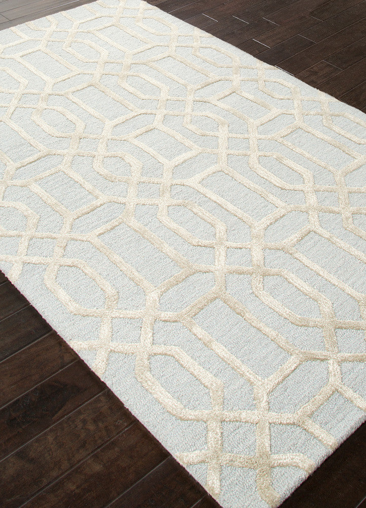 City Bellevue Pastel Blue/Fog Area Rug