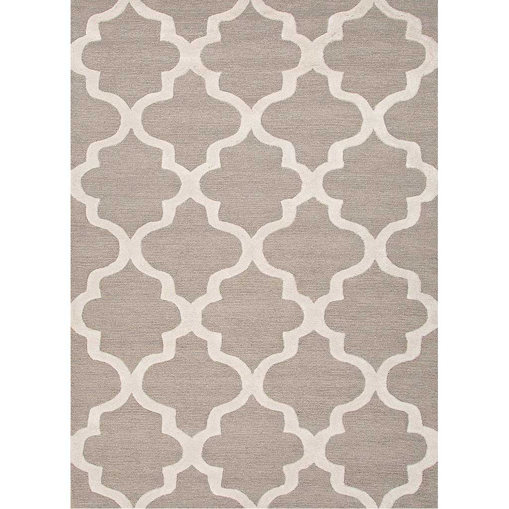 City Miami Medium Gray/White Area Rug