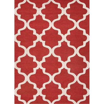 City Miami Velvet Red/White Area Rug