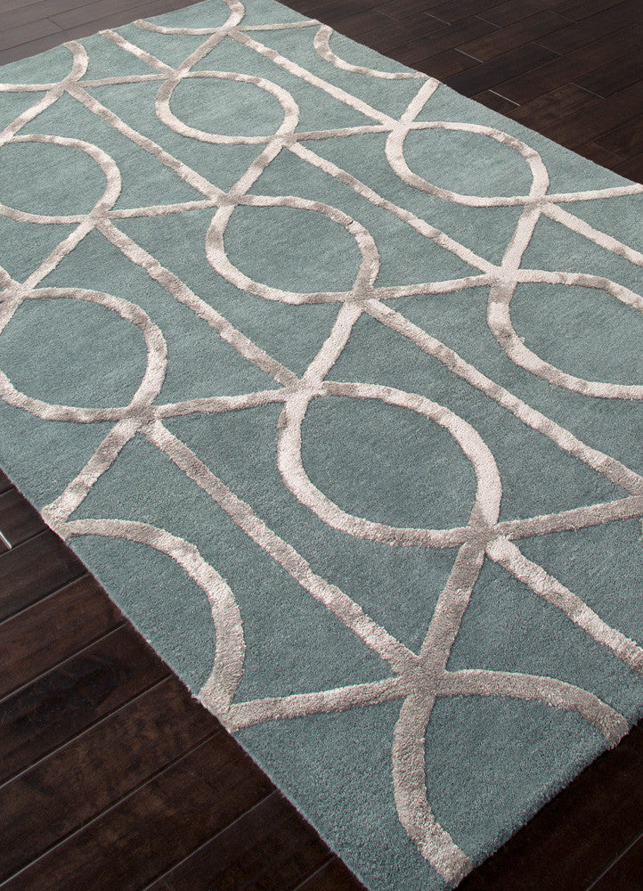 City Seattle Seaside Blue/Medium Gray Area Rug