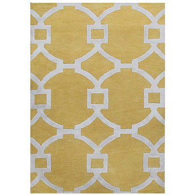 City Regency Bright Yellow/White Area Rug
