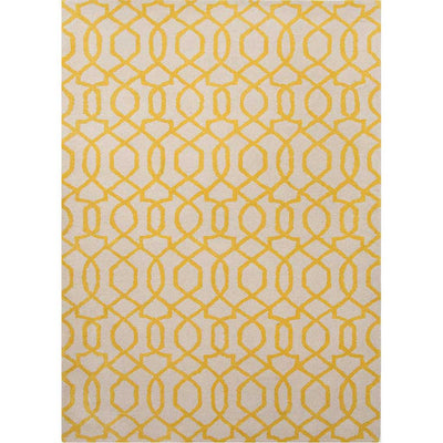 City Sonia White/Bright Yellow Area Rug