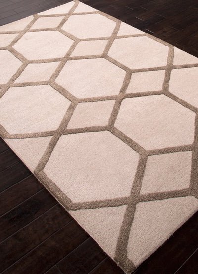 City Chicago Antique White/Dark Gray Area Rug