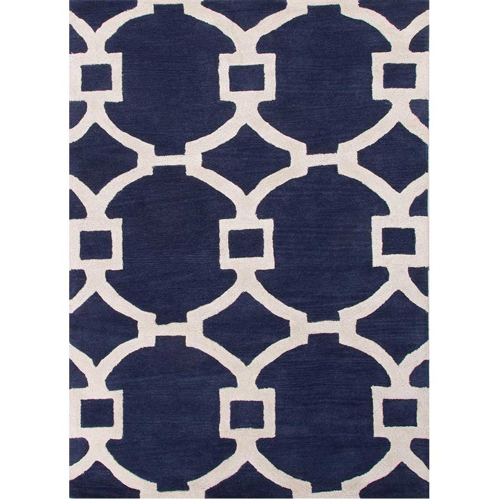 City Regency Deep Navy/White Area Rug