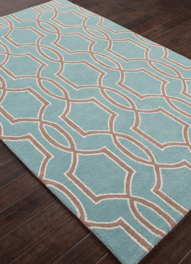 City Pensacola Light Turquoise/Dark Taupe Area Rug