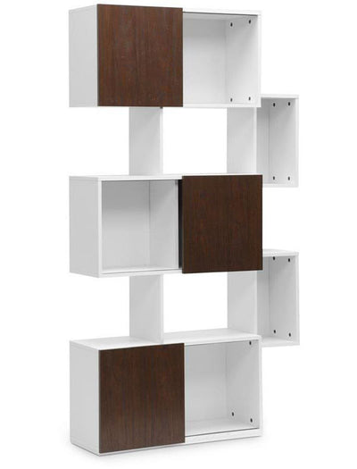 Harriet Bookshelf White & Walnut