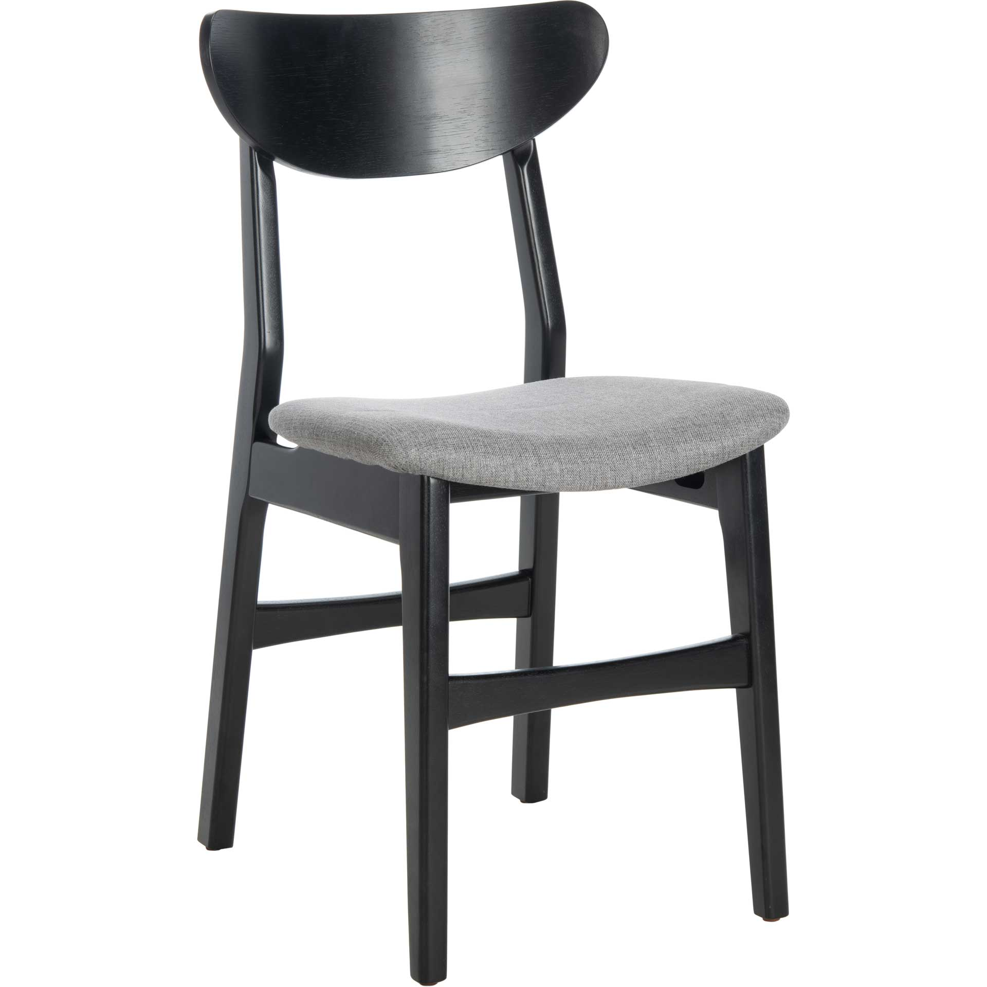 Lucas Retro Dining Chair Black/Gray (Set of 2)