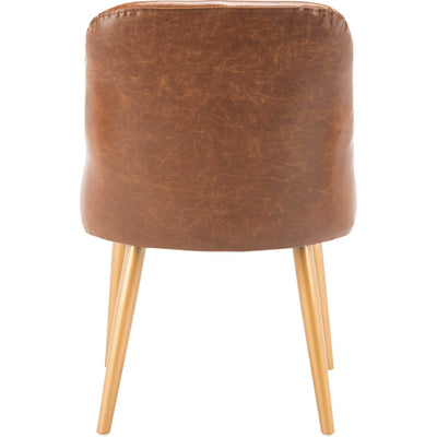 Luis Upholstered Dining Chair Light Brown/Gold (Set of 2)