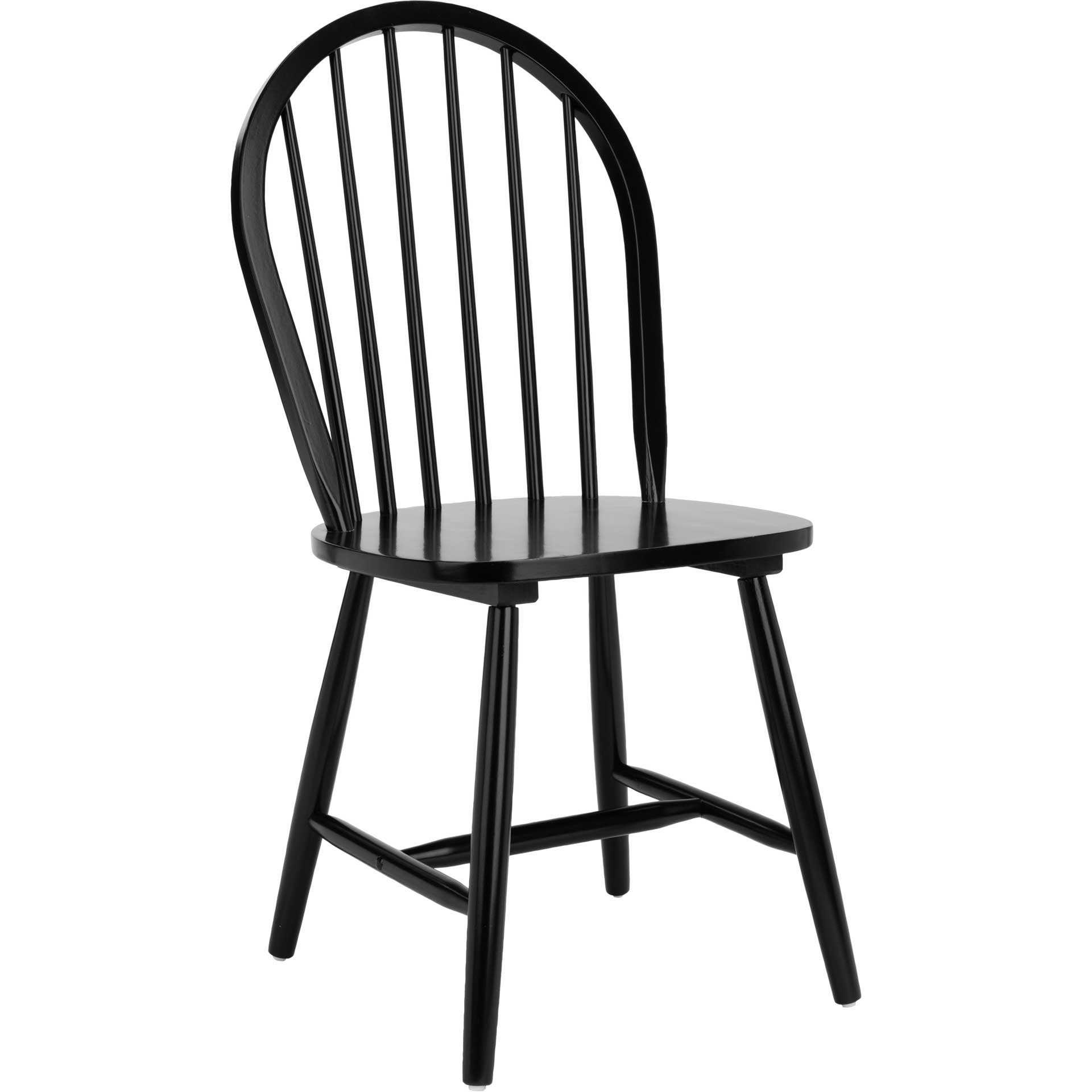 Calista Spindle Back Chair Black (Set of 2)