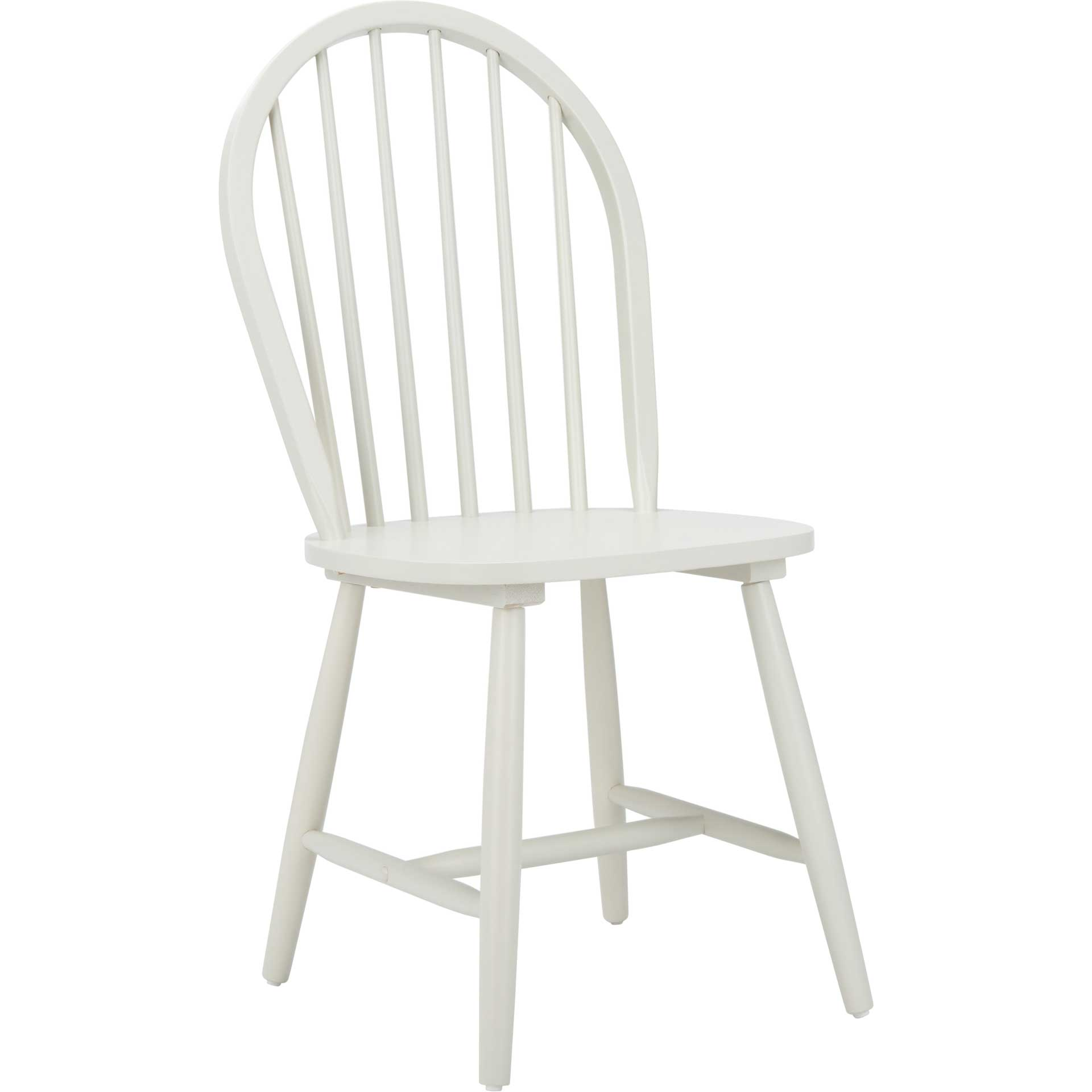 Calista Spindle Back Chair Off White (Set of 2)