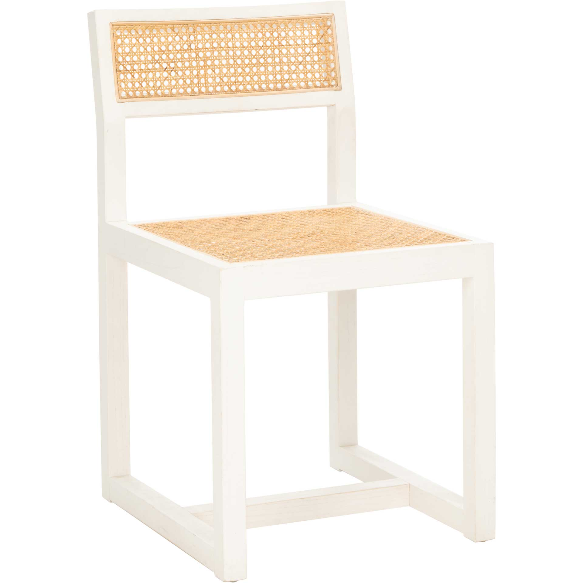 Bellini Cane Dining Chair White/Natural