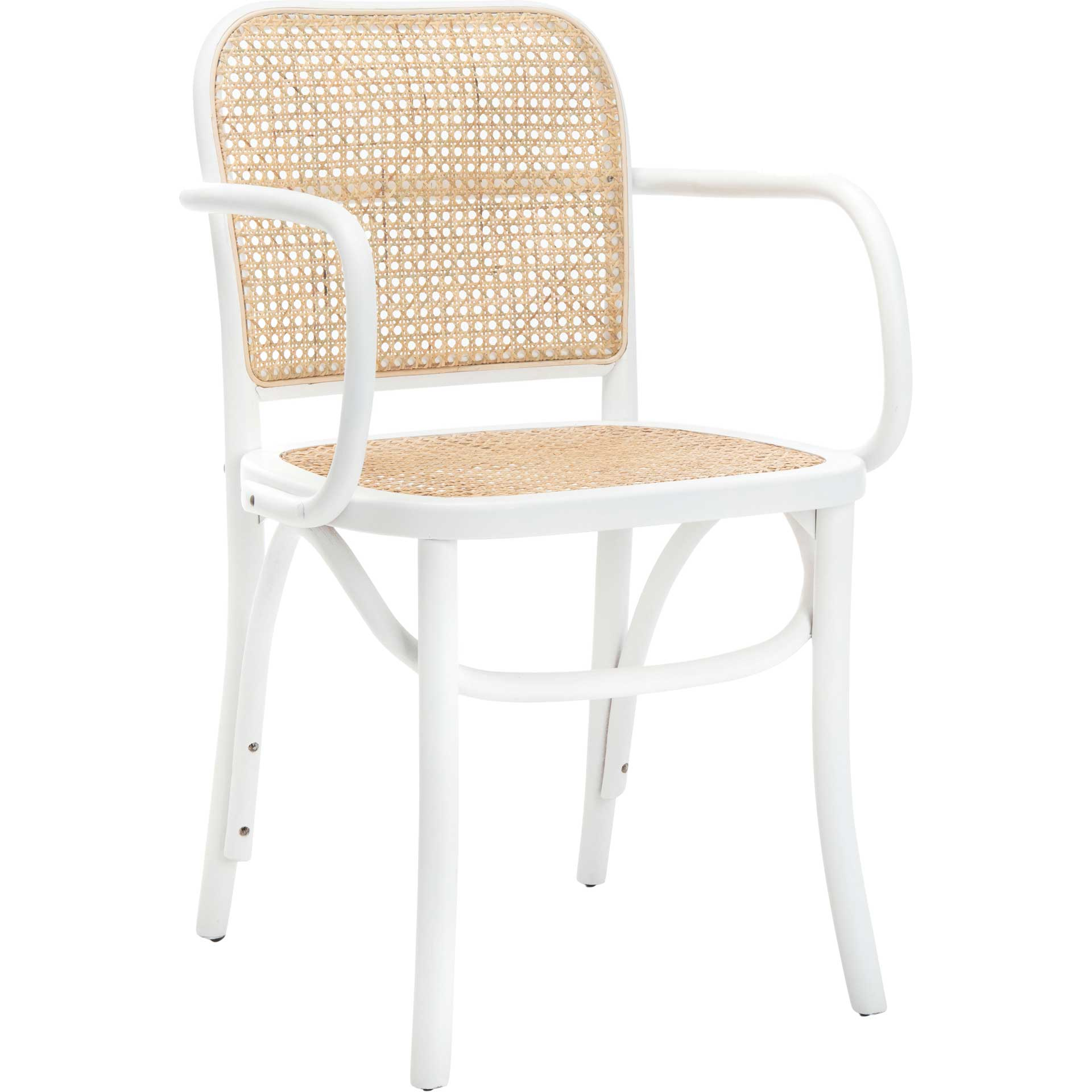 Keanu Cane Dining Chair White/Natural