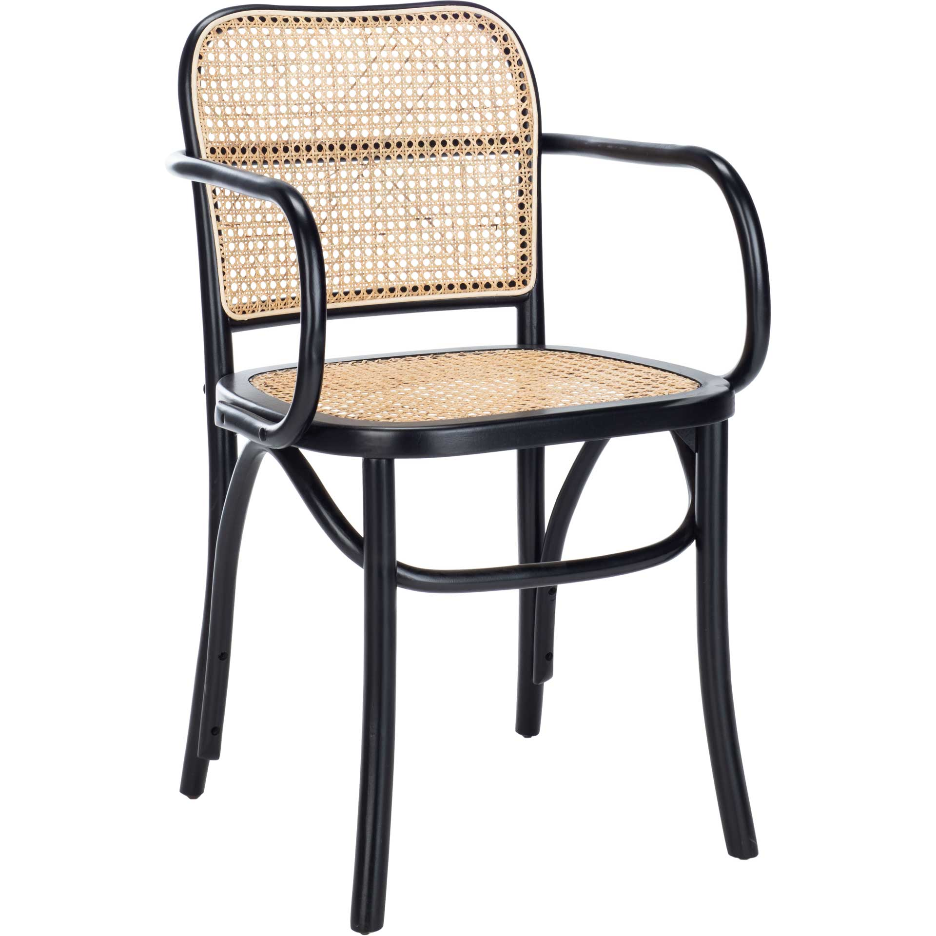 Keanu Cane Dining Chair Black/Natural