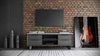 Amsterdam Media Cabinet Concrete/Gray Oak